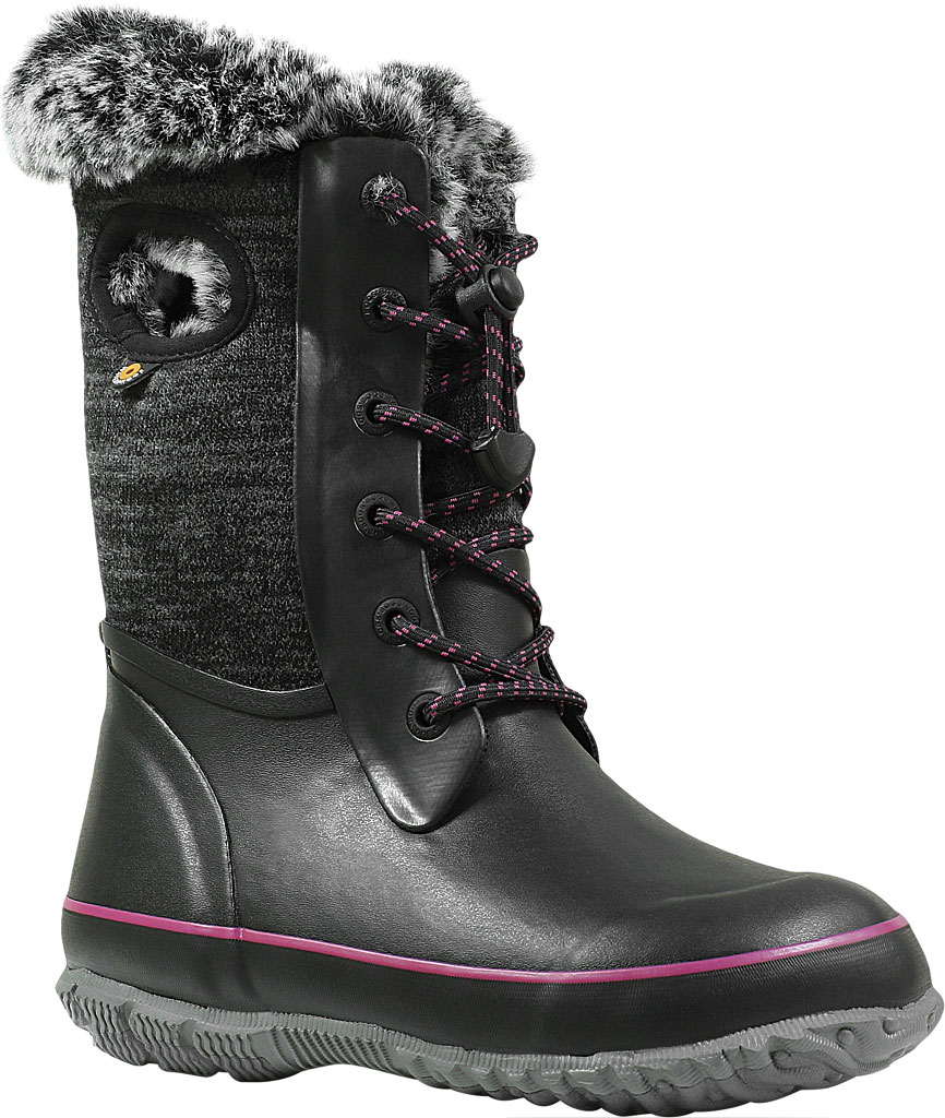 Children's Bogs Arcata Waterproof Knit Boot, Black Multi Rubber/Nylon Jersey, large, image 1