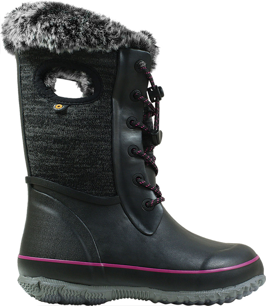 Children's Bogs Arcata Waterproof Knit Boot, Black Multi Rubber/Nylon Jersey, large, image 2