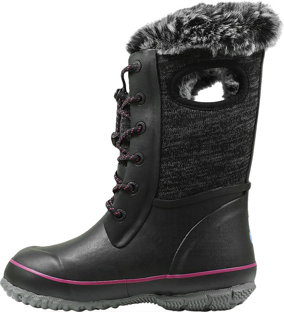 Children's Bogs Arcata Waterproof Knit Boot, Black Multi Rubber/Nylon Jersey, large, image 3