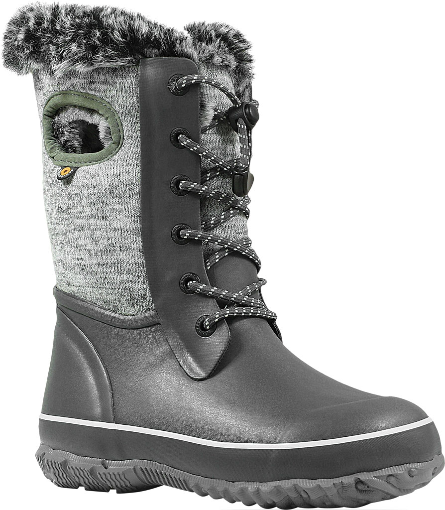 Children's Bogs Arcata Waterproof Knit Boot, Gray Multi Rubber/Nylon Jersey, large, image 1