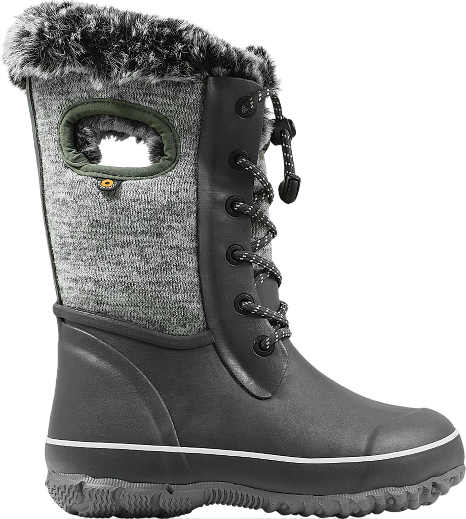 Children's Bogs Arcata Waterproof Knit Boot, Gray Multi Rubber/Nylon Jersey, large, image 2