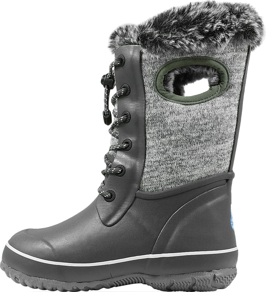 Children's Bogs Arcata Waterproof Knit Boot, Gray Multi Rubber/Nylon Jersey, large, image 3
