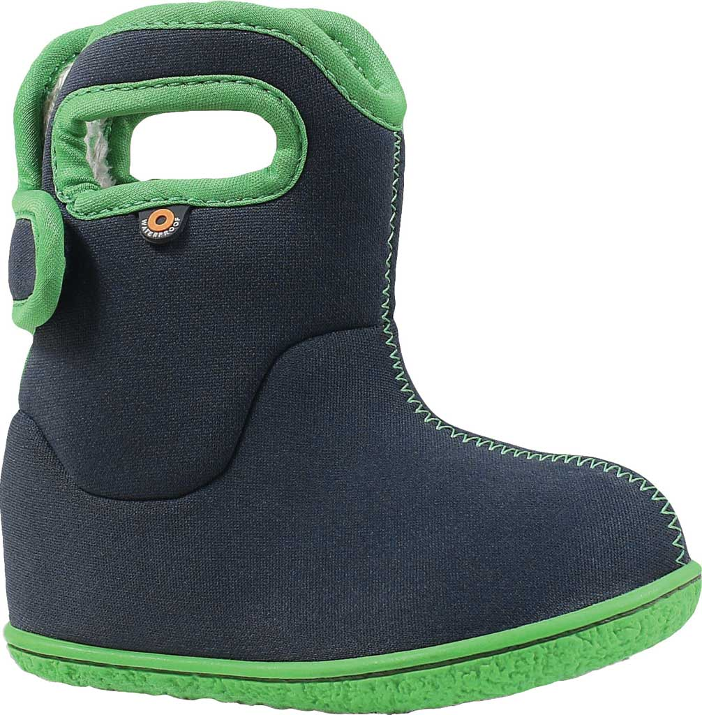 Infant Bogs Baby Bogs Waterproof Bootie, Navy Solid Polyester, large, image 1