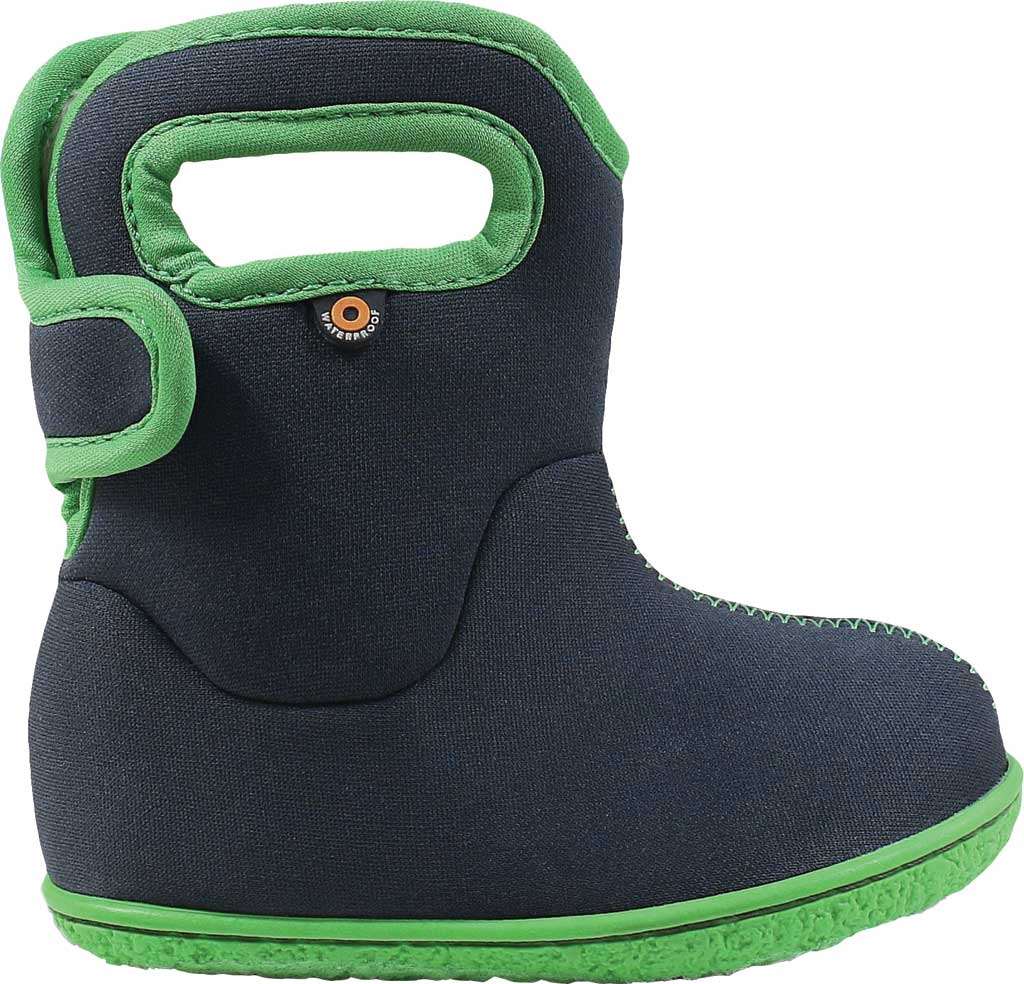 Infant Bogs Baby Bogs Waterproof Bootie, Navy Solid Polyester, large, image 2