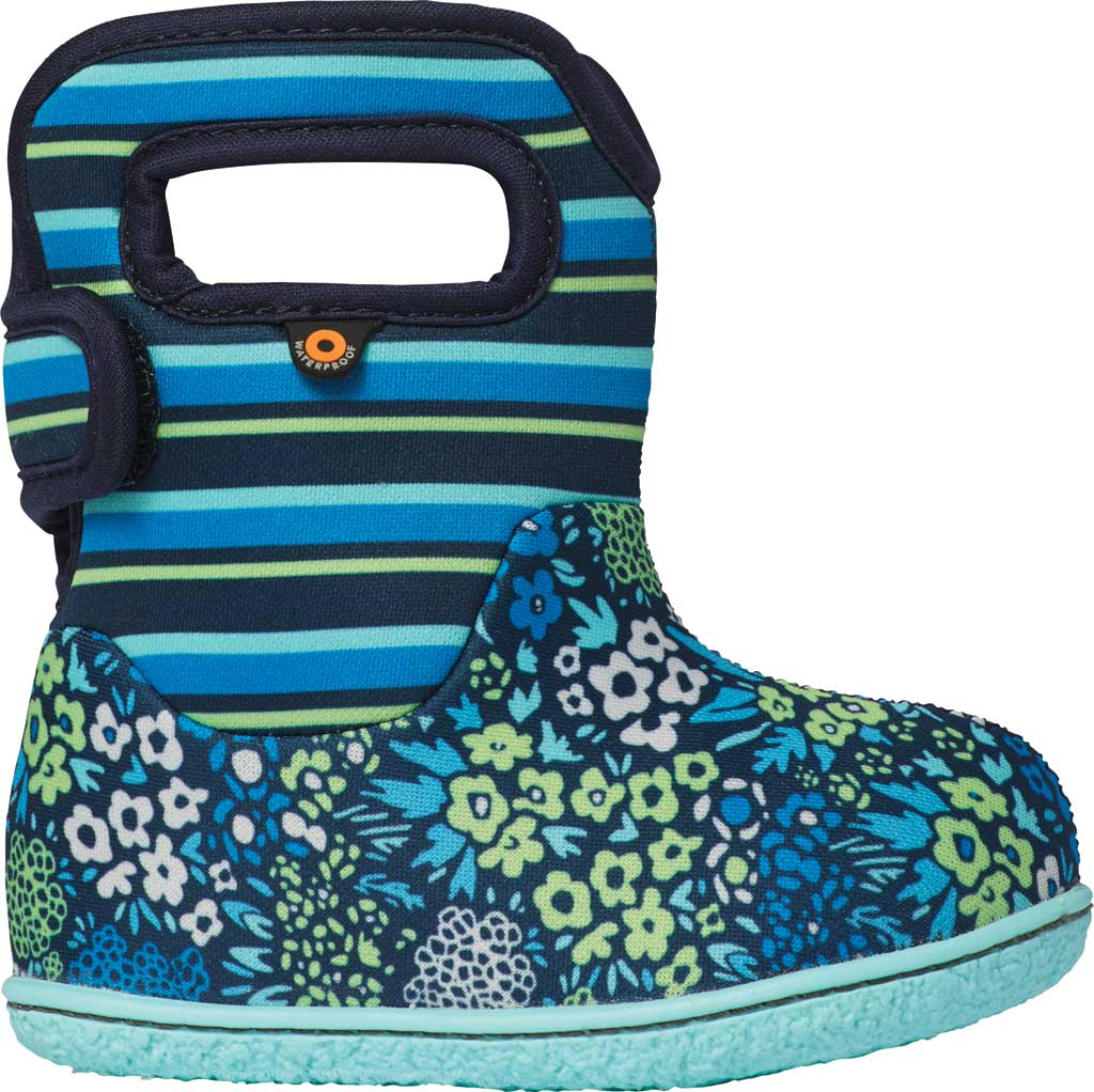 Infant Bogs Baby Bogs Waterproof Bootie, Teal Multi NW Garden Polyester, large, image 1