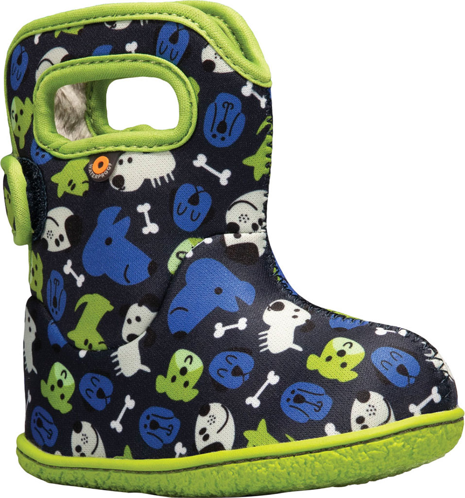 Infant Bogs Baby Bogs Waterproof Bootie, Blue Multi Puppies Polyester, large, image 1