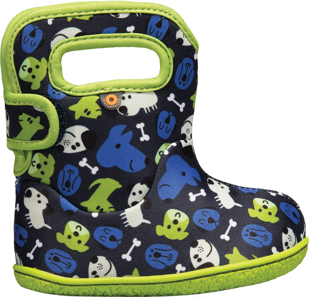 Infant Bogs Baby Bogs Waterproof Bootie, Blue Multi Puppies Polyester, large, image 2