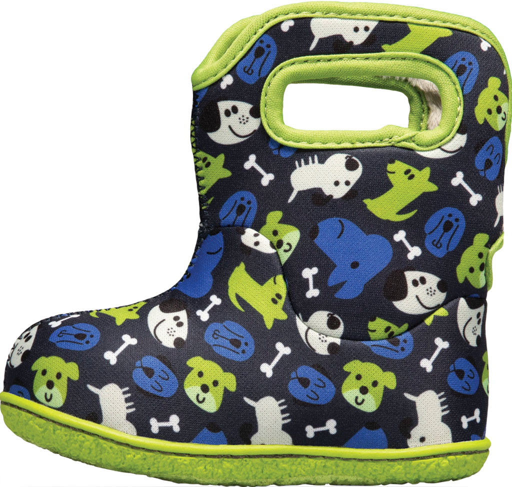 Infant Bogs Baby Bogs Waterproof Bootie, Blue Multi Puppies Polyester, large, image 3