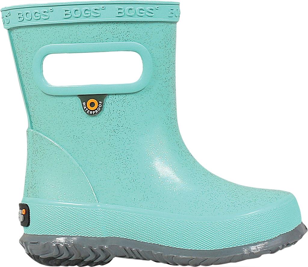 Infant Bogs Skipper Glitter Rain Boot, Turquoise Rubber, large, image 2