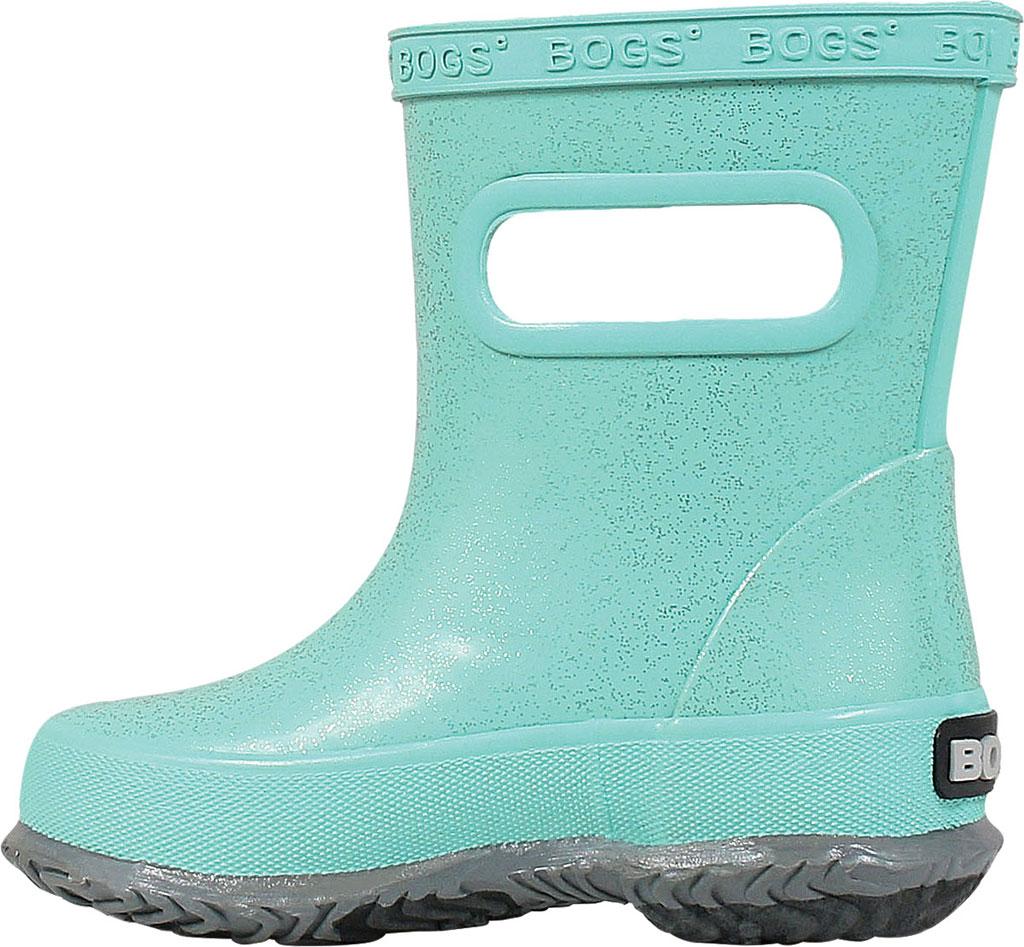 Infant Bogs Skipper Glitter Rain Boot, Turquoise Rubber, large, image 3