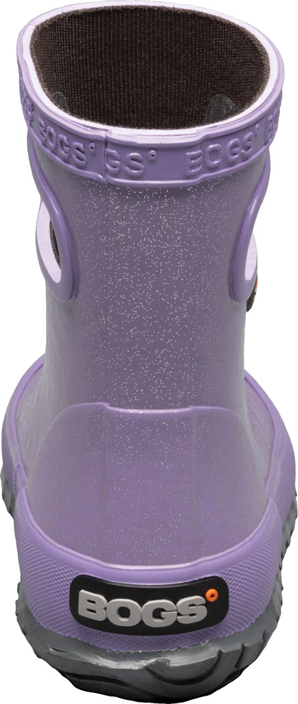 Infant Bogs Skipper Glitter Rain Boot, Lilac Glitter Rubber, large, image 4