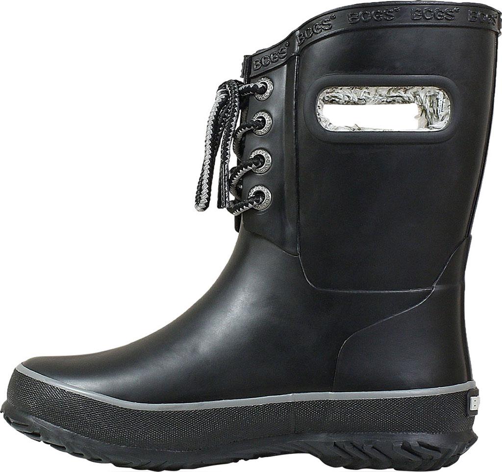 Children's Bogs Amanda Plush Lace Up Waterproof Boot, Black Rubber, large, image 3
