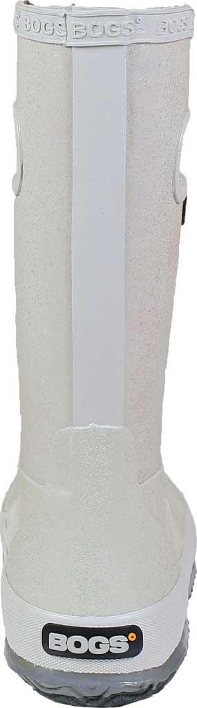 Children's Bogs Glitter Rain Boot, Silver Rubber/Nylon Jersey, large, image 4