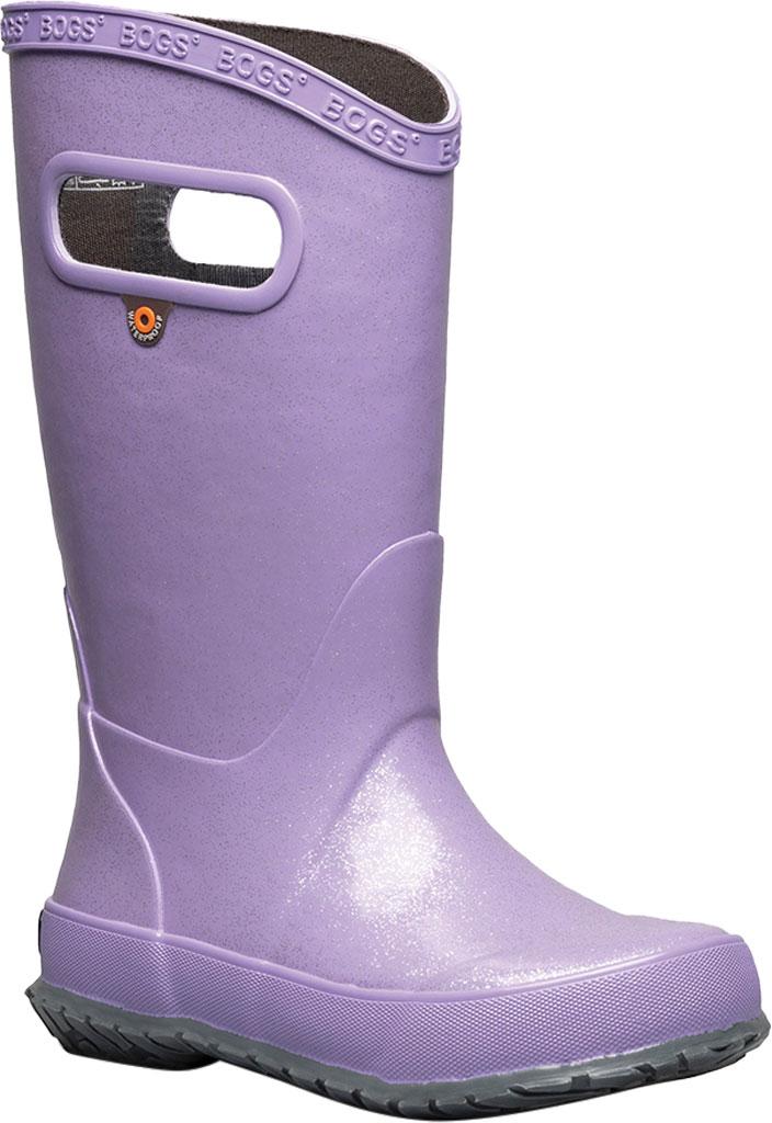 Children's Bogs Glitter Rain Boot, Lilac Glitter Rubber, large, image 1