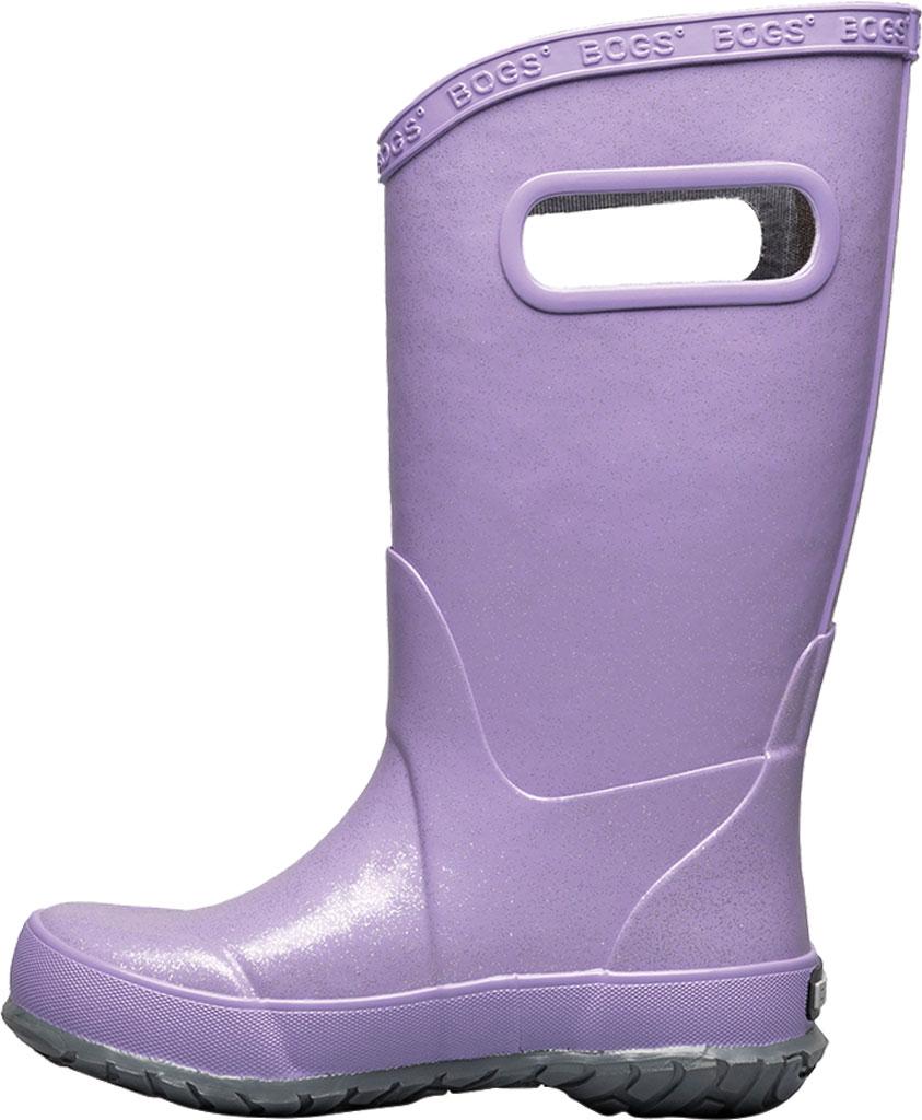 Children's Bogs Glitter Rain Boot, Lilac Glitter Rubber, large, image 3
