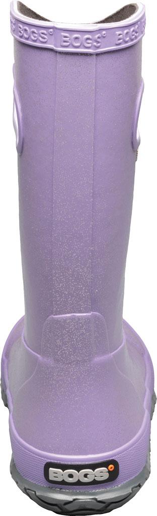 Children's Bogs Glitter Rain Boot, Lilac Glitter Rubber, large, image 4