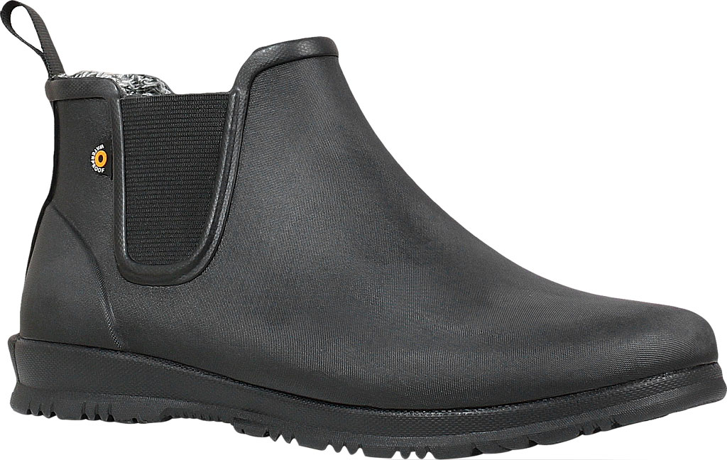 Women's Bogs Sweetpea Chelsea Winter Boot, Black Rubber, large, image 1