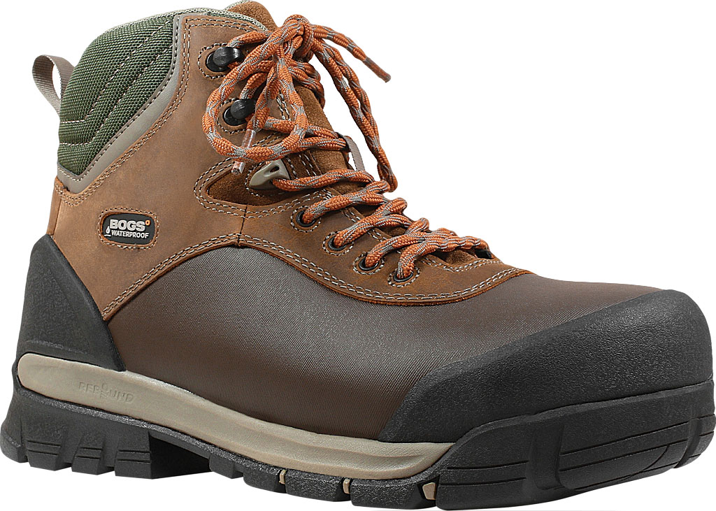 "Men's Bogs Bedrock Shell 6"" Composite Toe Work Boot, Brown Multi Leather, large, image 1"