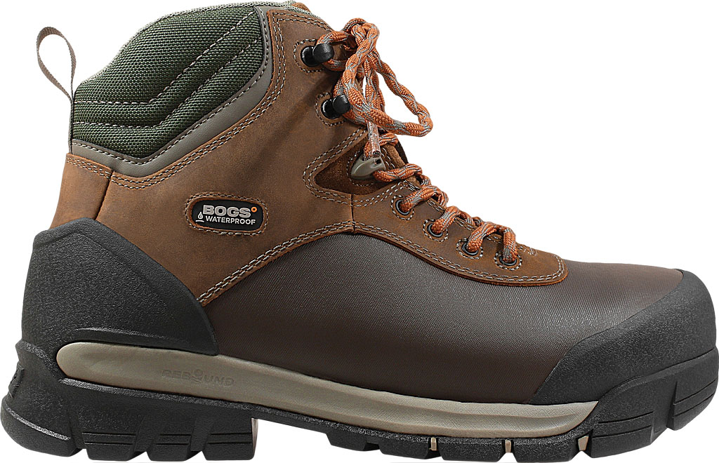 "Men's Bogs Bedrock Shell 6"" Composite Toe Work Boot, Brown Multi Leather, large, image 2"
