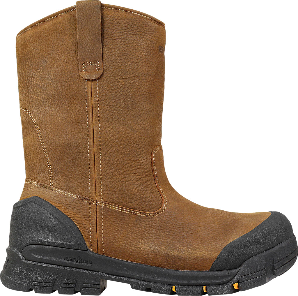 Men's Bogs Bedrock Wellington Composite Toe Boot, Brown Leather, large, image 2