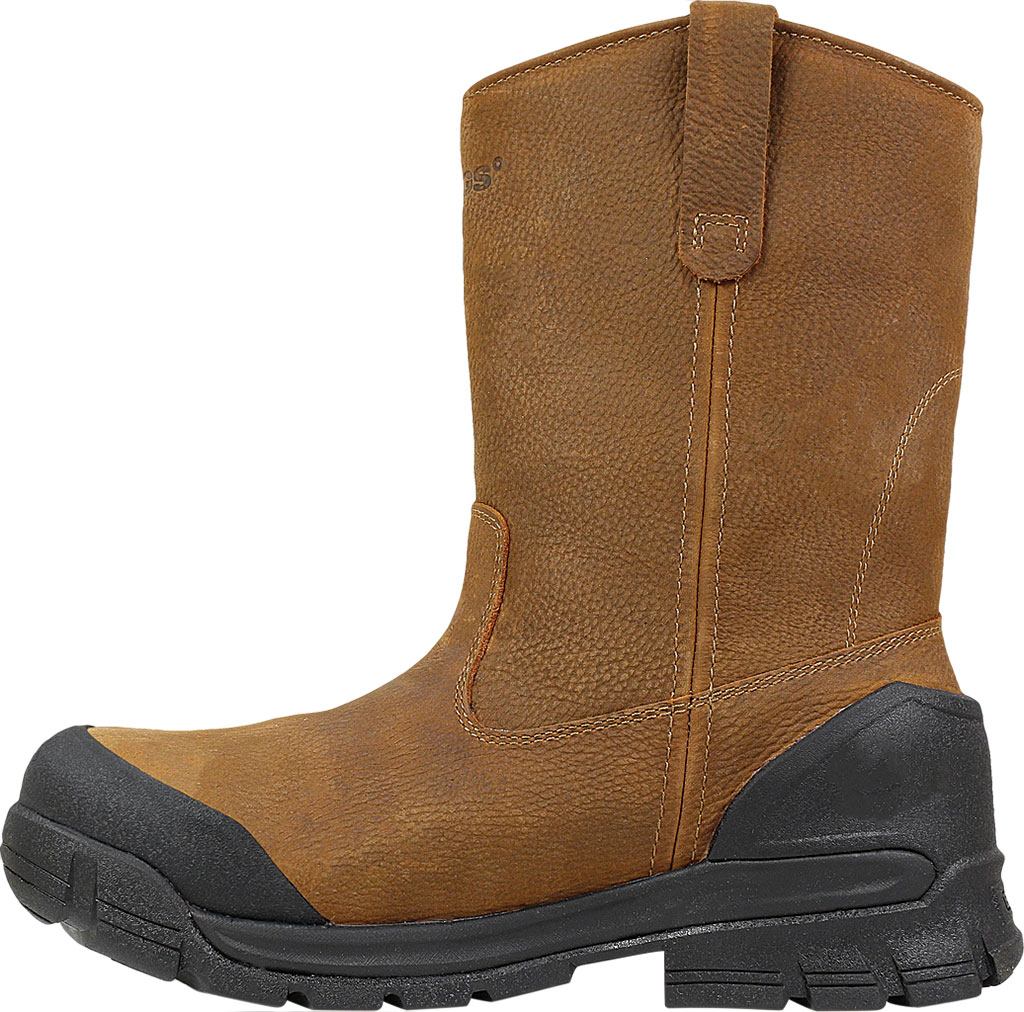 Men's Bogs Bedrock Wellington Composite Toe Boot, Brown Leather, large, image 3