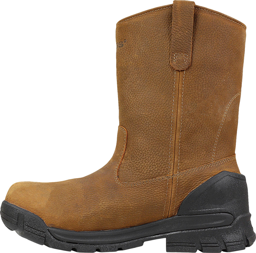 Men's Bogs Bedrock Wellington Soft Toe Work Boot, Brown Leather, large, image 3