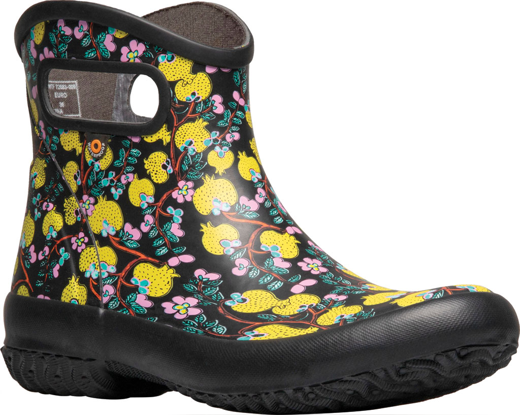 Women's Bogs Patch Waterproof Ankle Bootie, Black Multi/Wang Ting Fang (Roots Studio) Rubber, large, image 1