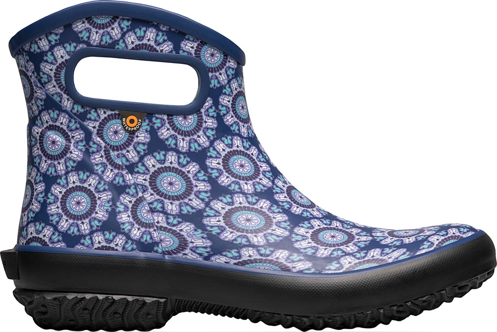 Women's Bogs Patch Waterproof Ankle Bootie, Blue Multi/Juned (Roots Studio) Rubber, large, image 2