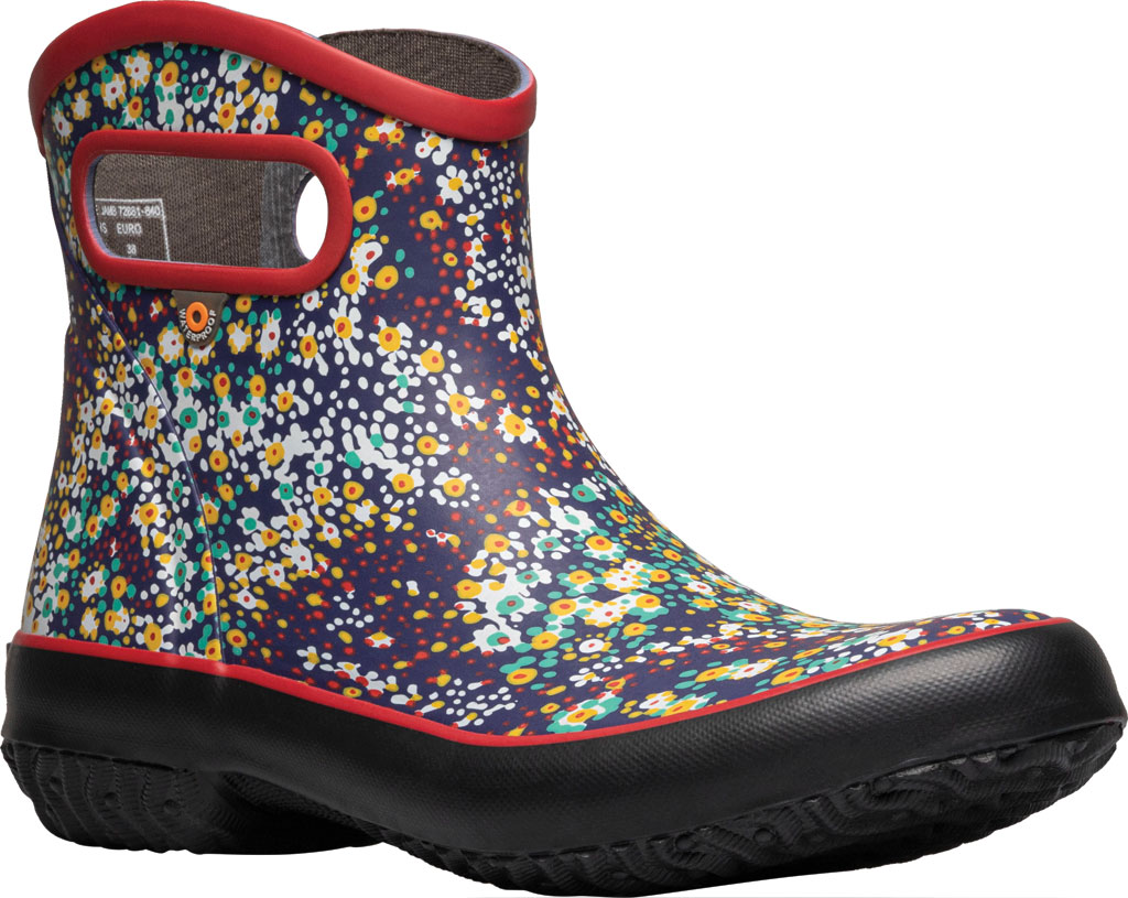 Women's Bogs Patch Waterproof Ankle Bootie, Red Multi/Jamboo (Roots Studio) Rubber, large, image 1