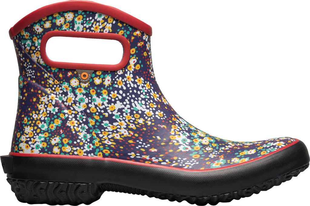 Women's Bogs Patch Waterproof Ankle Bootie, Red Multi/Jamboo (Roots Studio) Rubber, large, image 2