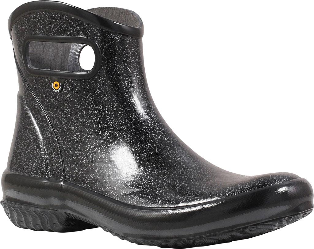 Women's Bogs Glitter Rain Ankle Boot, Black Glitter Rubber, large, image 1