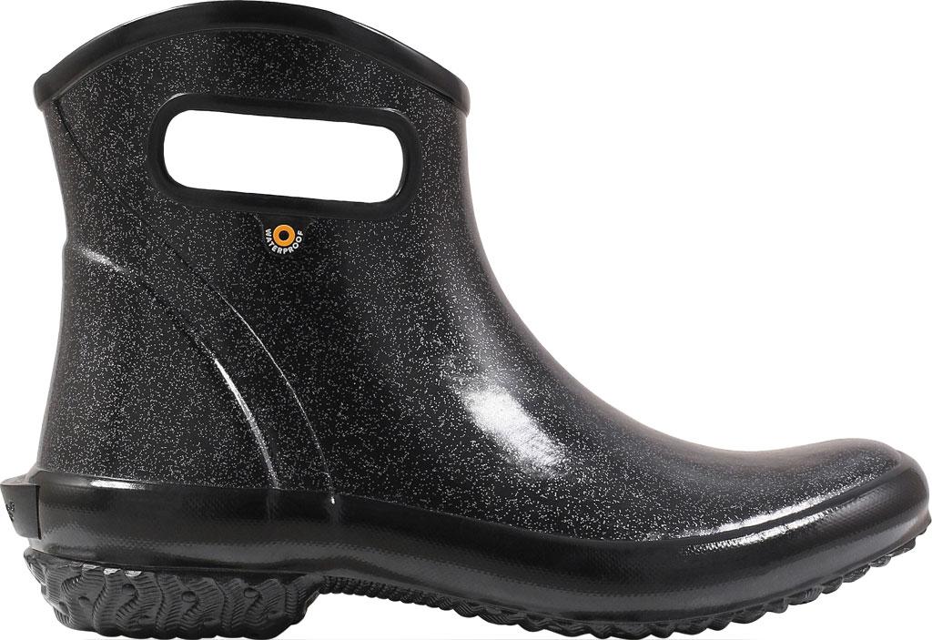 Women's Bogs Glitter Rain Ankle Boot, Black Glitter Rubber, large, image 2