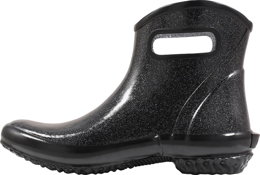 Women's Bogs Glitter Rain Ankle Boot, Black Glitter Rubber, large, image 3