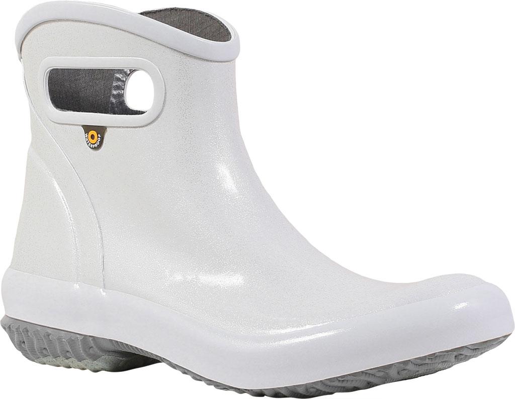 Women's Bogs Glitter Rain Ankle Boot, Silver Glitter Rubber, large, image 1