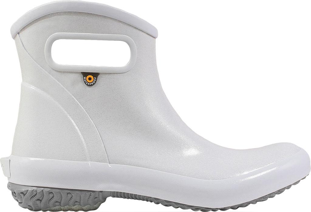 Women's Bogs Glitter Rain Ankle Boot, Silver Glitter Rubber, large, image 2