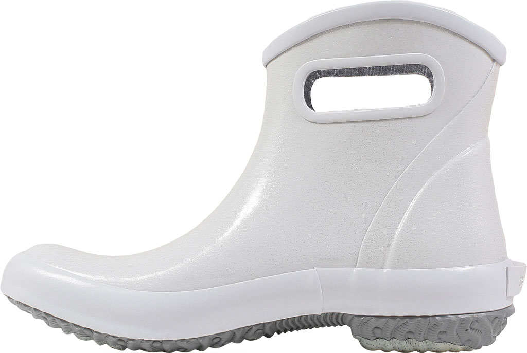Women's Bogs Glitter Rain Ankle Boot, Silver Glitter Rubber, large, image 3