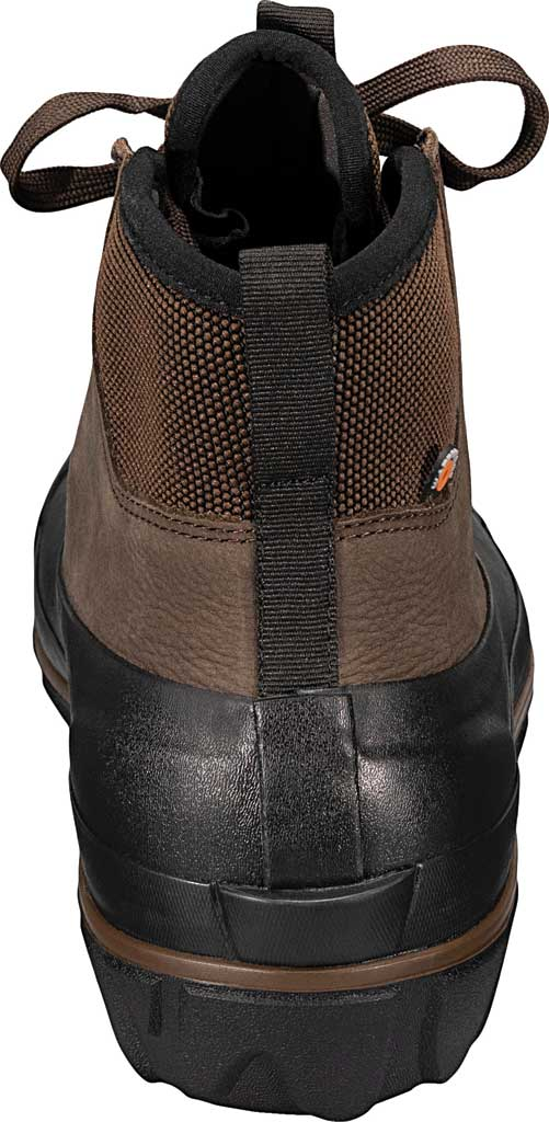 Men's Bogs Classic Casual Lace Waterproof Duck Boot, Dark Brown Rubber/Leather, large, image 4