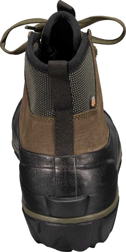 Men's Bogs Classic Casual Lace Waterproof Duck Boot, Dark Green Rubber/Leather, large, image 4