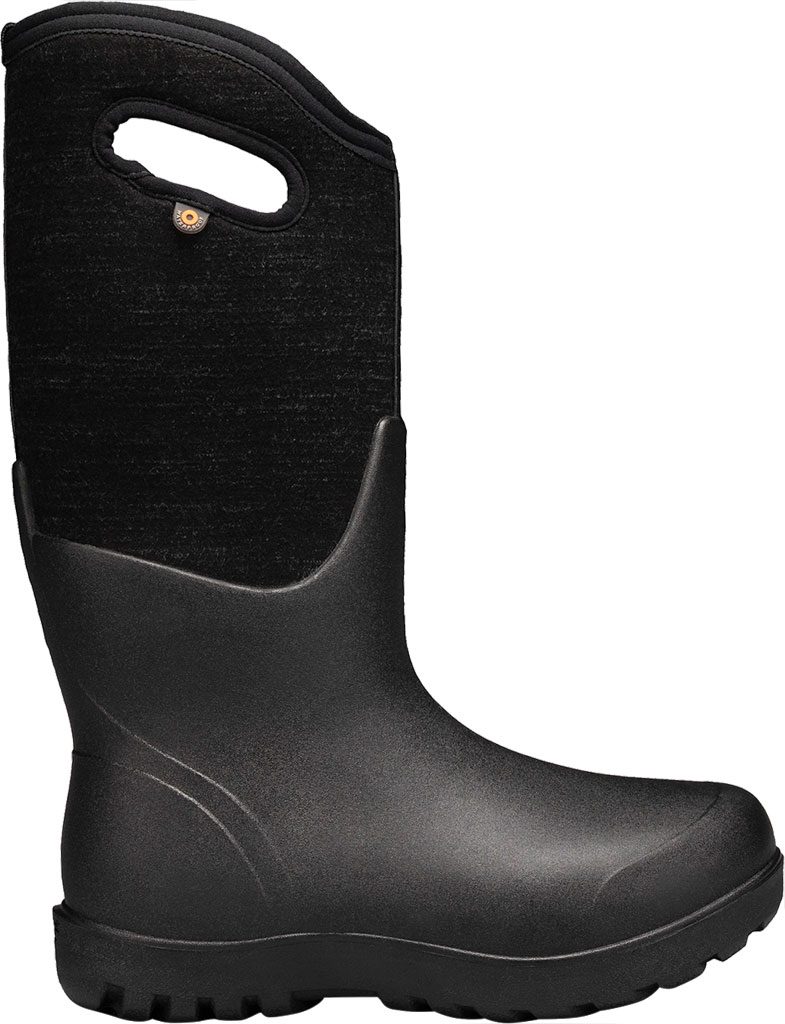 Women's Bogs Neo Classic Waterproof Rain Boot, Black Multi Melange Rubber/Textile, large, image 2