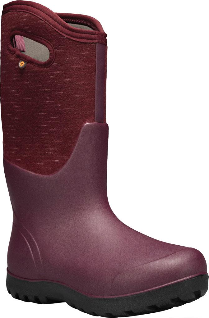 Women's Bogs Neo Classic Waterproof Rain Boot, Plum Multi Melange Rubber/Textile, large, image 1