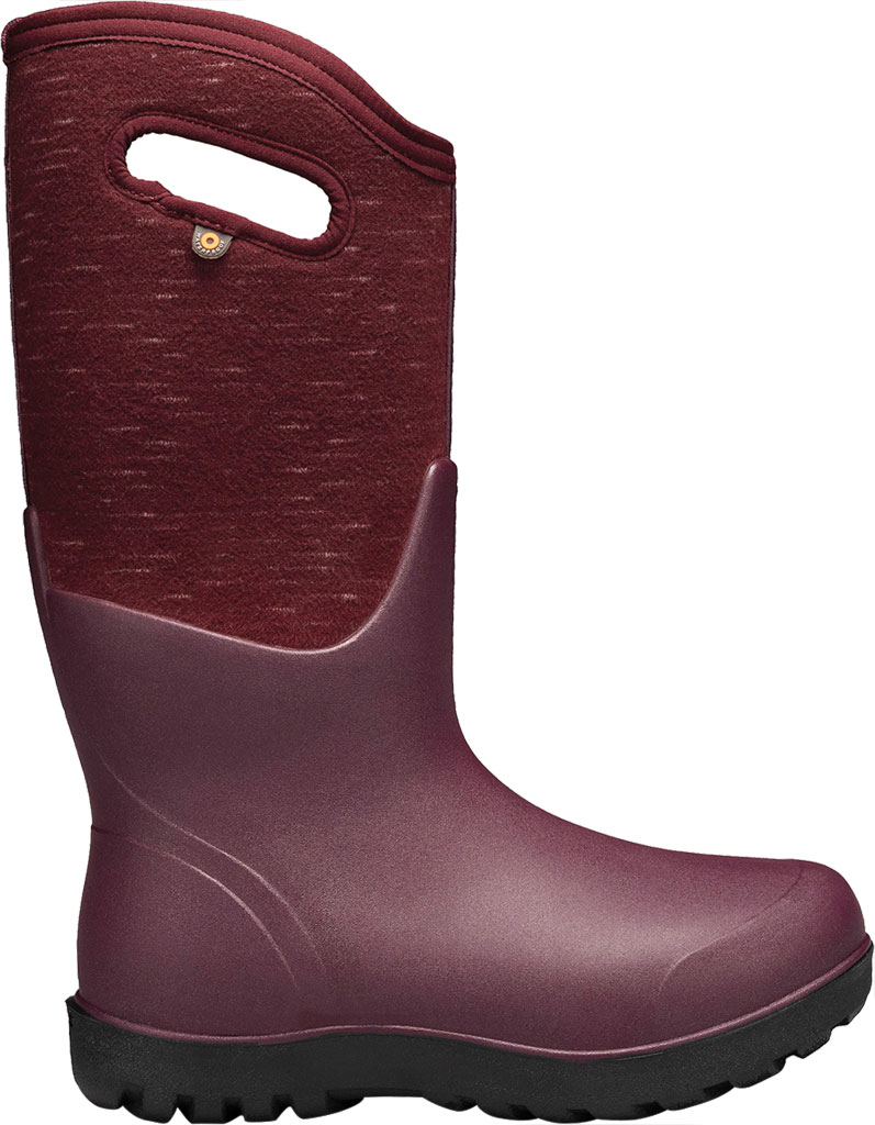 Women's Bogs Neo Classic Waterproof Rain Boot, Plum Multi Melange Rubber/Textile, large, image 2