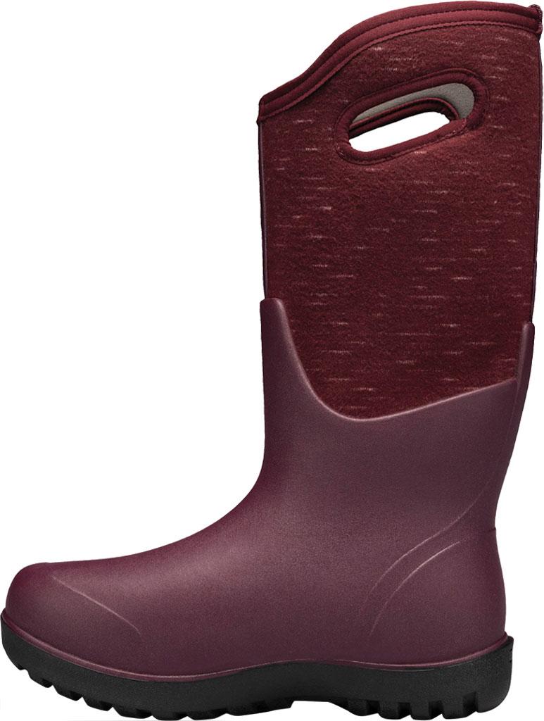 Women's Bogs Neo Classic Waterproof Rain Boot, Plum Multi Melange Rubber/Textile, large, image 3