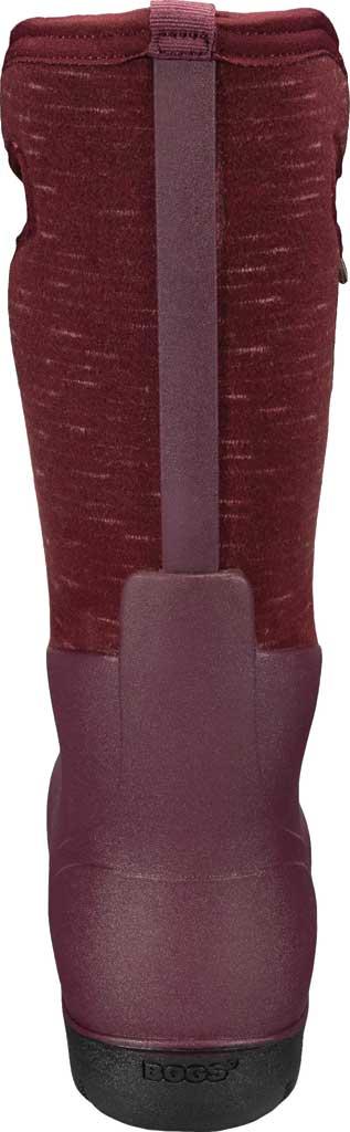 Women's Bogs Neo Classic Waterproof Rain Boot, Plum Multi Melange Rubber/Textile, large, image 4