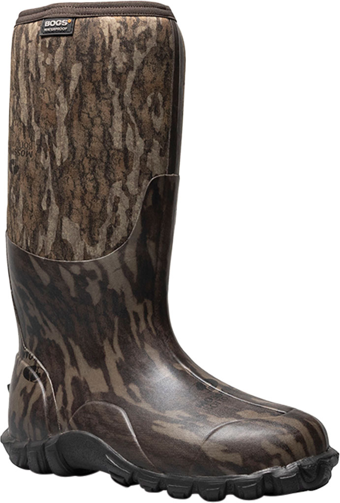 Men's Bogs Classic Camo Bottomland Waterproof Boot, Mossy Oak Rubber/Textile, large, image 1
