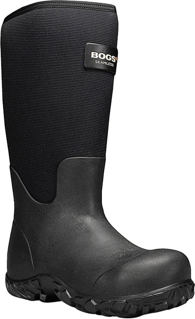"""Men's Bogs Workman 17"""" Adjustable Composite Toe Boot, Black Rubber/Textile, large, image 1"""