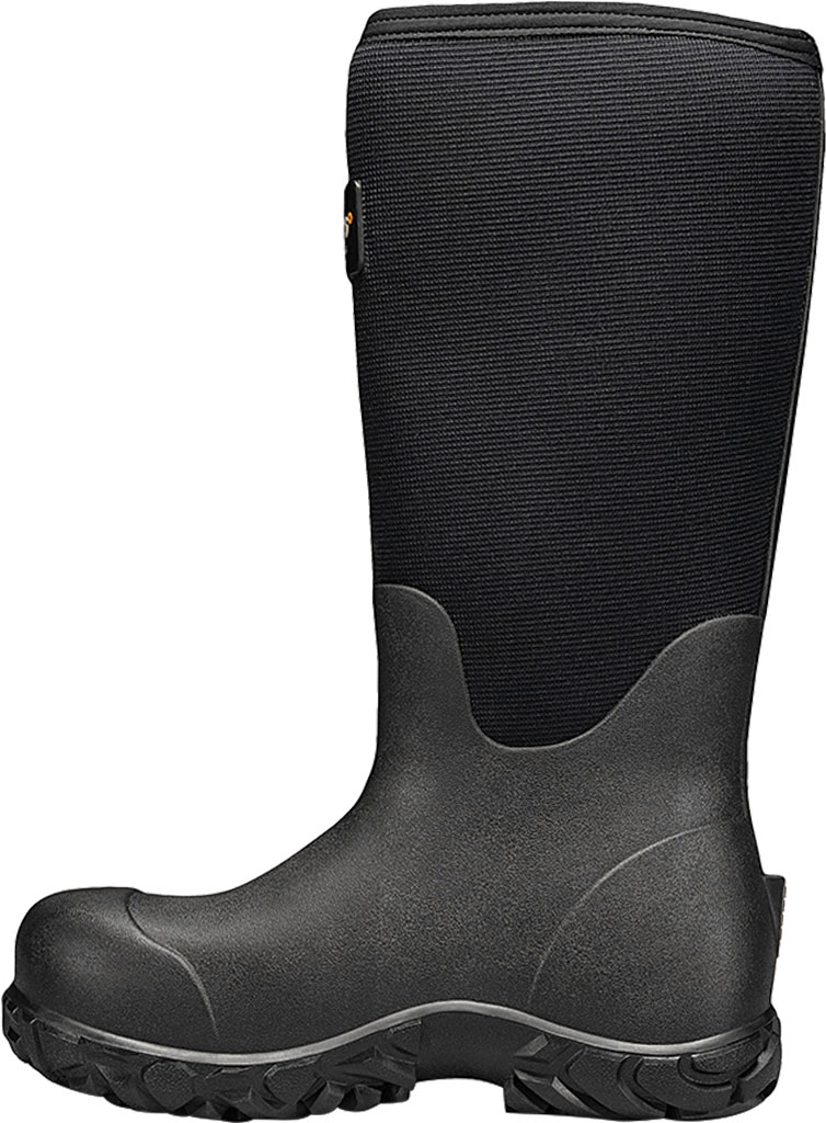"""Men's Bogs Workman 17"""" Adjustable Composite Toe Boot, Black Rubber/Textile, large, image 3"""