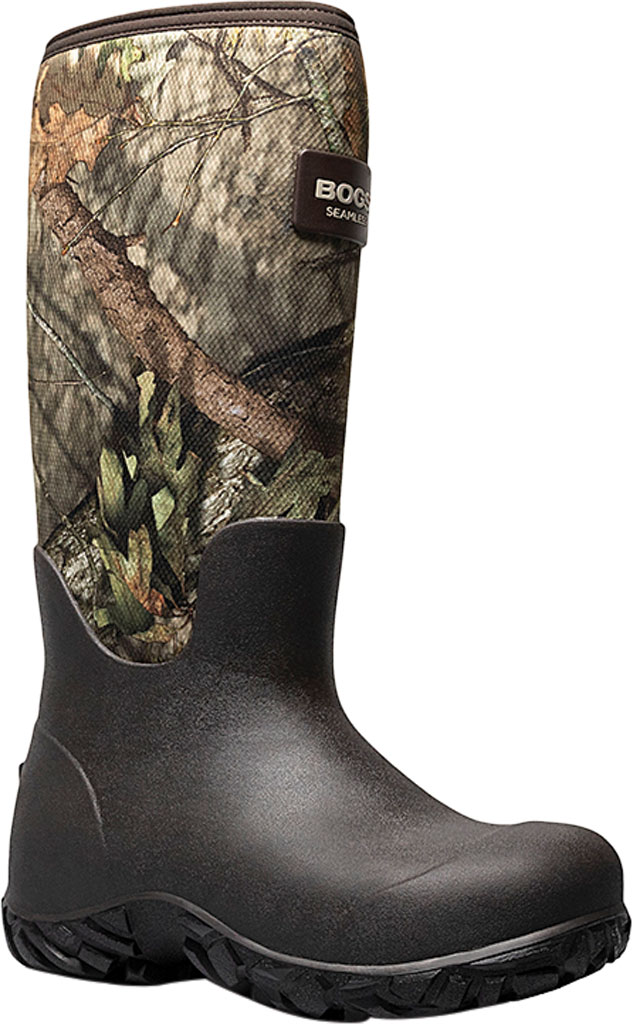 "Men's Bogs Rut Hunter 17"" LS Waterproof Rain Boot, Mossy Oak Rubber/Textile, large, image 1"