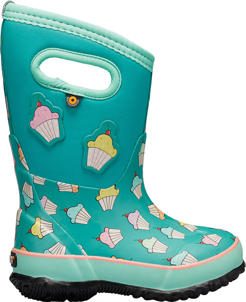 Children's Bogs Classic Design A Cupcakes Waterproof Rain Boot, Teal Multi Rubber/Textile, large, image 2