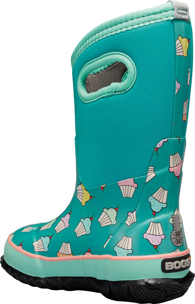 Children's Bogs Classic Design A Cupcakes Waterproof Rain Boot, Teal Multi Rubber/Textile, large, image 3
