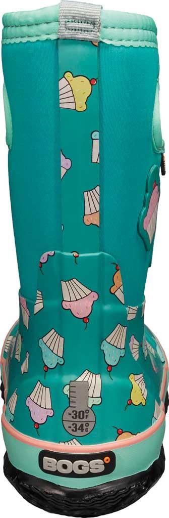 Children's Bogs Classic Design A Cupcakes Waterproof Rain Boot, Teal Multi Rubber/Textile, large, image 4